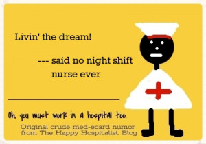 Tonight, I am thankful that Night Nurse RN, MSN, M&M and PRN is not ...