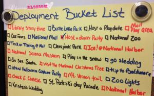 Deployment Bucket List {Military Monday's}