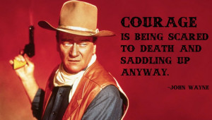 One of the many John Wayne inspirationals floating around the Web.
