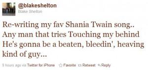 Blake Shelton Spills...