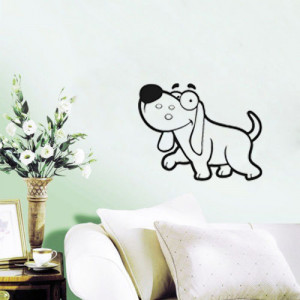 Silly Dog Vinyl Wall Quote For Home(China (Mainland))