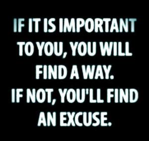 No excuses. #quote