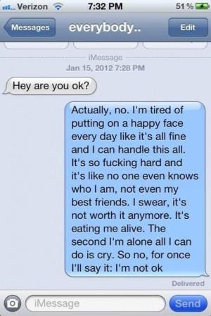 no, i'm not ok