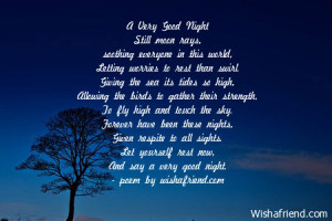 Good Night Poems