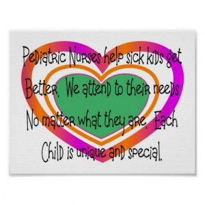 pediatric nurse poem heart posters