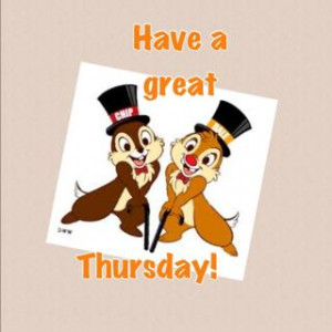 Happy Thursday MW! It's almost Friday!! Have a great day!