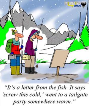 Funny Ice Fishing Cartoons Ice fishing tailgater