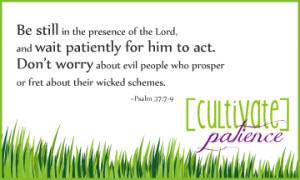 patience bible verses