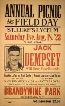 Jack Dempsey poster