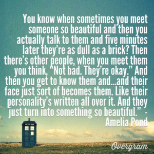 Amelia Pond Quotes Doctor who quote said by amelia pond (i actually ...