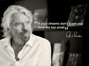 ... off. If you dream big and take risks, impossible becomes just a word