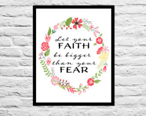 Let your Faith be bigger than your fear - Nursery Decor Graduation ...