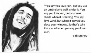 bob marley, love, quote