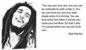 bob marley, love, quote
