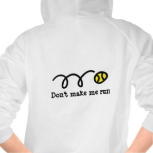 Women's tennis clothing | hoodie with funny quote
