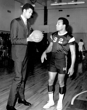 Lew Alcindor + Jim Brown, but what's goin on?