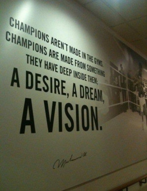 Have a vision.