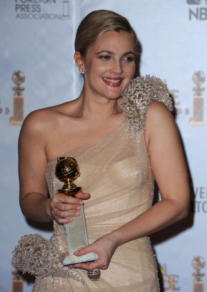 Photos and Quotes of Drew Barrymore From Golden Globes Press Room 2010 ...