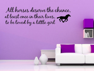 Details about Love Horse Girls Western Vinyl Wall quote Decal home ...