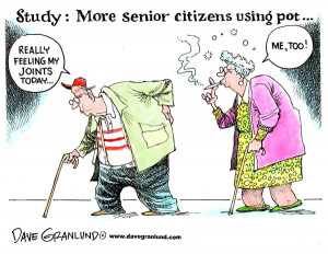 More senior citizens smoking pot