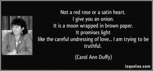 More Carol Ann Duffy Quotes