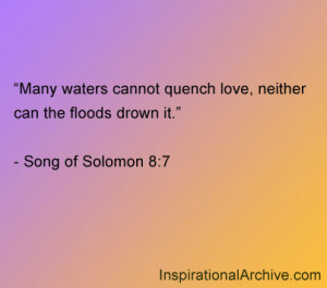 Many waters cannot quench, Quotes