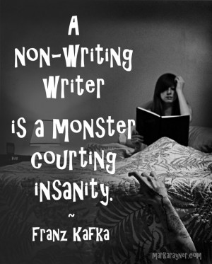 away from my latest long fiction project for a while, and this quote ...