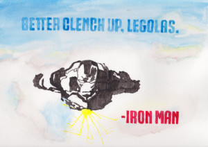 Iron Man Avengers 9x12 Quote Watercolor Original