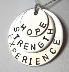 from etsy experience strength and hope necklace