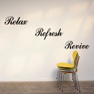 Word-Relax-Refresh-Revive-Letter-Quote-Room-Decor-Removable-Art-DIY ...
