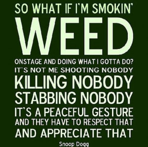Snoop Dogg Weed Smoking Quote