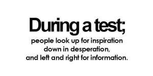 Funny exam quotes for facebook