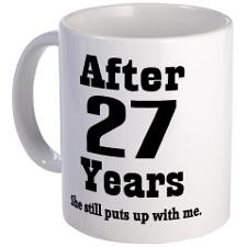 27th Anniversary Funny Quote Coffee Mug