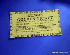 On Etsy you can also buy a replica of the golden ticket from the same ...