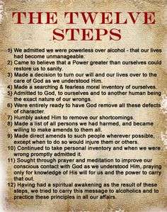 twelve steps of narcotics anonymous More