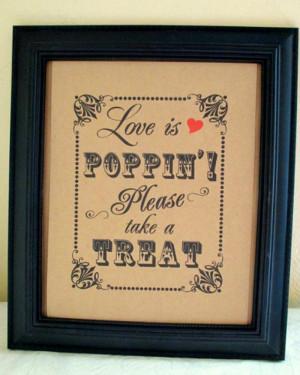 Wedding Favor Sayings Popcorn Wedding Favor Sayings