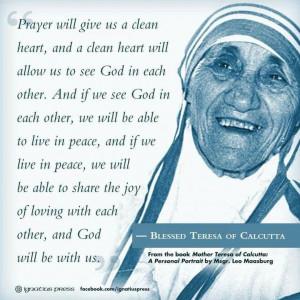 Blessed Teresa of Calcutta quotes. Mother Teresa. Catholic. Catholics ...