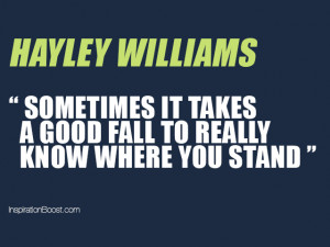 Really Know Where You Stand...