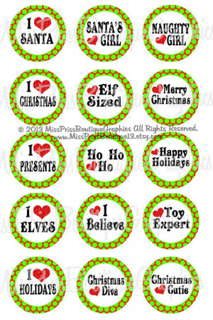 4x6 - SWEET CHRISTMAS SAYINGS - Instant Download - Polkadot Bling ...