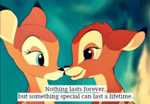 animals, bambi, cartoon, happy, love, quote, smile, special, text