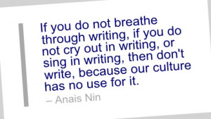 Writing Quote by Anais Nin