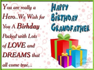 Wishing You A Very Happy Birthday Dear Grandfather