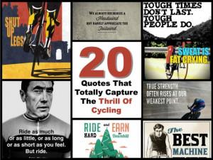 """It never gets easier, you just go faster."""" – Greg LeMond"""
