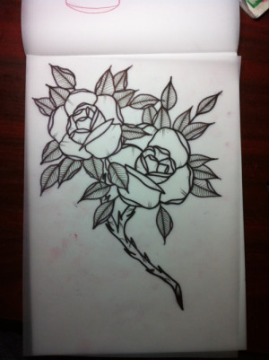 rose flash tattoo roses thorns traditional neotraditional