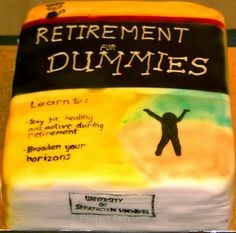 retirement cake for a judge   Retirement cake - library book More