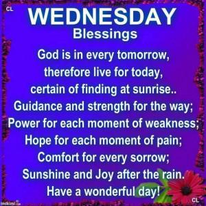 Wednesday Blessings~