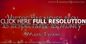 mark twain, quotes, sayings, virtue, money