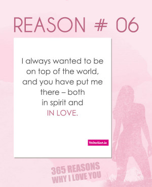 Reasons Why I Love You Quotes