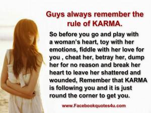 ... bad karma karma with me i ll let karma do its karma quotes for her