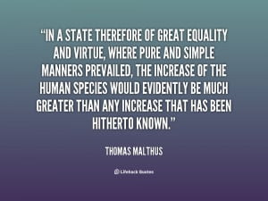 Quotes Equality ~ In a state therefore of great equality and virtue ...